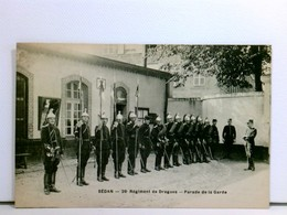 Seltene AK Sédan - 28 Régiment De Dragons - Parade De La Garde; Dragoner, Uniformen, Militär; Ungelaufen; Belg - Niederlande
