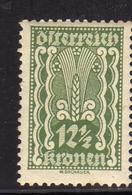 AUSTRIA ÖSTERREICH 1921 AGRICULTURE AGRICOLTURA 12 1/2K MH - Nuovi