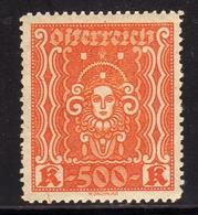 AUSTRIA ÖSTERREICH 1922 1924 ART AND SCIENCE ARTE E SCIENZE 500K MNH - Nuovi