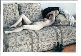 CP Gustave Caillebotte Nu Au Repos Huile Sur Toile  Femme Nue - Peintures & Tableaux