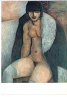 CP Marcel Gromaire Nu Au Manteau 1929 Femme Nue - Peintures & Tableaux