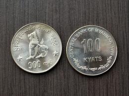 Myanmar (Burma) 100 Kyats 1999 Km64 Münzen UNC COIN CURRENCY - Myanmar