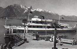 OBERHOFEN Am Thunersee. Schiffländte Motorschiff Jungfrau Stockhornkette - BE Berne