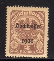 AUSTRIA ÖSTERREICH 1921 COAT OF ARMS EAGLE STEMMA ARMOIRIES 1920 OVERPRINTED SOPRASTAMPATO 2K MH - Nuovi