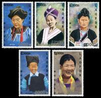 355 - Laos 2011  YT 1795-99 ; Mi# 2187-91 **  MNH   Costumes Of The Tribes (V) - Laos