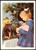A2181 - Glückwunschkarte Weihnachte - Krippe Weihnachtskrippe - Mädchen Puppe - SOS Kinderdorf - Altri