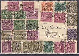 Allemagne - Empire- Carte Postale De 1923 - Oblit Olbernhau - Exp Vers Chemnitz - Deutschland