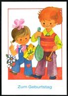 D3971 - TOP H. Hoppert Glückwunschkarte Geburtstag - Kinder - Planet Verlag DDR - Birthday
