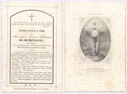Belgique - Mortuaire : Louis-Clément De Hemptinne, Né à Jauche 25/9/1778 - 16/2/1853 (Ch. Letaille) - Décès