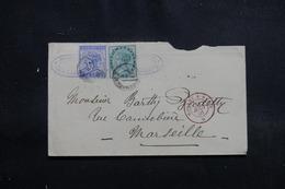 INDE - Enveloppe Pour La France En 1891, Affranchissement Plaisant , Voir Cachets Au Verso - L 54408 - India (...-1947)