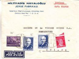 Turquie - Lettre Avion De 1941 - Oblit Istanbul - - Covers & Documents