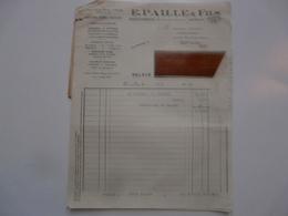 VIEUX PAPIERS - FACTURE ET TRAITE : Couleurs Et Vernis - E. PAILLE & FILS - Versailles - Francia