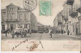 ROUMANIE - GALATI . CPA Voyagée En 1904 Bursa Si Casele Principale De Comerciu (bords Marqués Voir Scan) - Romania