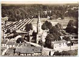 C. P. A. : 33 En Avion Au-dessus De LEOGNAN : Eglise Saint-Martin De Léognan, Timbre En 1960 - Other Municipalities