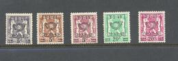 798/802 Preos Met Opdruk Postfris** 1949 - Bélgica