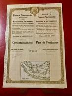 Sté  Franco - Néerlandaise  De CULTURE  &  De  COMMERCE ----- Part  De  Fondateur - Industrie