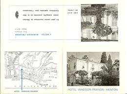"""Vieille Publicité De MENTON """" Hotel WINDSOR-TRIANON """" - Historical Documents"""