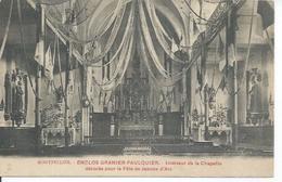 MONTPELLIER - ENCLOS GRANIER-FAULQUIER - INTERIEUR DE LA CHAPELLE DECOREE POUR LZ FETE DE JEANNE D'ARC - Montpellier