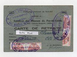 CARTE  CGT  SYNDICAT DES MINEURS DU PAS DE CALAIS - 62 - LENS - SECTION HERSIN COUPIGNY - TIMBRES 1948 - Historische Documenten