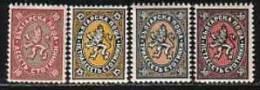 BULGARIA \ BULGARIE - 1927-29 - Serie Courant - 4v** - Nuevos