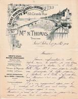 1908 SAINT-AUBIN-sur-MER - Agence Principale De Ventes & Locations - Mme N. THOMAS - Documenti Storici