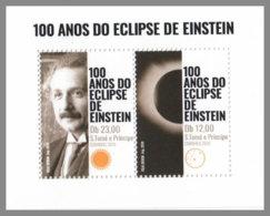 SAO TOME 2019 MNH Albert Einstein Eclipse Sonnenfinsternis M/S - OFFICIAL ISSUE - DH2008 - Albert Einstein