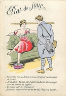LES ETATS DU POILU - PLAT DU JOUR - LE SAMEDI - GRIVOISERIE - FEMMES SEINS NUS - CPA ILLUSTRATEUR - War 1914-18