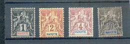 MAYO 30 - YT 1-2-3-5 * - Mayotte (1892-2011)