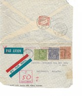 Sh 0357. N° 77A-80-82 SYDNEY 11 FEB 36 S/Lettre AVION V. PALEMBANG (SUMATRA). TAXE INDES NEERLANDAISES 30c. - Brieven En Documenten