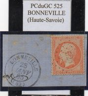 Haute-Savoie - N° 23 Obl PCduGC 525 Bonneville (+ Cad T 15 S/fgt) - 1862 Napoléon III