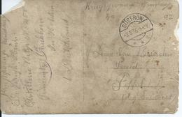Fotokaart Krijgsgevangene Verstuurd Van GÜSTROW Naar Poppel (1916) - Versleten Kaart - WW I