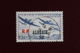 ALGERIE 1945 Y&T NO 245 BOMBARDIERS LeO-451 EN VOL SURCHARGE...OBLI TB - Algérie (1924-1962)