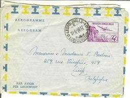 "AEROGRAMME / AEROGRAM "" Belgisch - Congo Belge "" 1956 Leopoldville . - Poste Aérienne: Oblitérés"