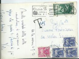 CARTE POSTALE TAXEE - En Provenance D'ITALIE - Storia Postale