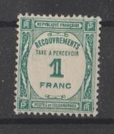 Taxe N° 60 NEUF * - 1859-1955 Postfris