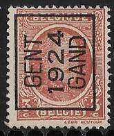 Gent 1924 Typo Nr. 100A - Préoblitérés