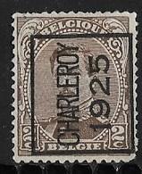 Charleroy 1925 Typo Nr. 110A Hoekje Rechtsonder - Préoblitérés