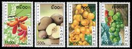 348 - Laos 2010  YT 1768-71 ; Mi# 2170-73 **  MNH   Fruits - Laos