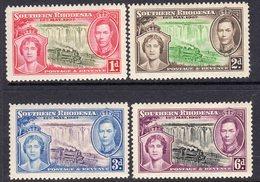 Southern Rhodesia 1937 Coronation Set Of 4, Hinged Mint, SG 36/9 (BA) - Zuid-Rhodesië (...-1964)