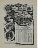 1888 - BORNEL (60) A.W. ELLIOT - Tarif Des Grillages Mécaniques - Manufacture De Brosserie - - Historical Documents