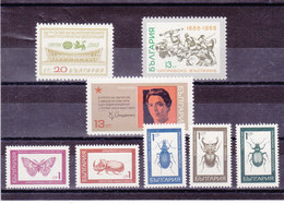 BULGARIE 1968 Yvert 1608-1614 + 1617 NEUF** MNH - Bulgarien