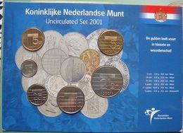 LaZooRo: Netherlands UNC Set 2001 5 Cents - 5 Gulden 6 Coins - Pays-Bas