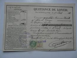 VIEUX PAPIERS - QUITTANCE DE LOYER - Mme LOUVIOT Locataire - Rue De Limoges - Avril 1931 - Versailles - Francia