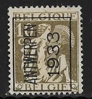 Antwerpen  1933 Typo Nr. 266A - Typo Precancels 1932-36 (Ceres And Mercurius)