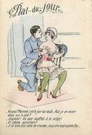 LES ETATS DU POILU - PLAT DU JOUR - LE MERCREDI - GRIVOISERIE - FEMMES SEINS NUS - CPA ILLUSTRATEUR - War 1914-18
