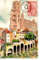 Eglise : Carte Maximum Barre Dayez 2122 G Cathédrale DeAlbi - Chiese E Cattedrali