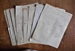 30 Lettres-factures : Léon Lemaitre à Bolbec (76) - 1875 & 1876, Avec Adresses, Cachets Et Timbres Au Dos - Francia