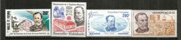 Hommage à Louis Pasteur.  4 Timbres Neufs ** Wallis Futuna,Polynésie,Monaco,Nouvelle-Calédonie. Côte 24  € - Louis Pasteur