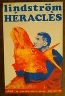 AFFICHE ANCIENNE ORIGINALE EXPOSITION LINDSTRÖM HERACLES Galerie Abcd 197 Sérigraphie La Ficelle Vintage - Affiches