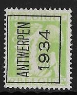 Antwerpen 1934 Nr. 275A - Typo Precancels 1932-36 (Ceres And Mercurius)